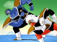Songoku aux prises avec les ennemis