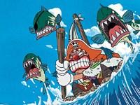 À la poursuite de Luffy ! Les aventures de Baggy rétréci