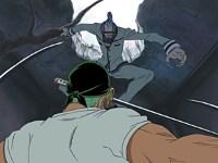 Duel dans les ruines ! Zoro contre Erik !