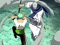 Les sabres virevoltent sur le toit ! Zoro vs Ryuma : épilogue