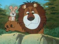 Petit lapin et gros lion